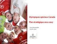 2012-2017 Plan Stratégique - Special Olympics Canada