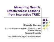 Measuring Search Effectiveness: Lessons from Interactive TREC