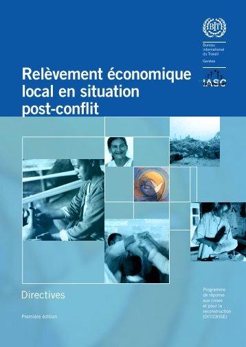 Relèvement économique local en situation post-conflit Directives ...