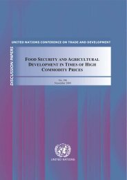 Food security and agricultural development in times of high - unctad