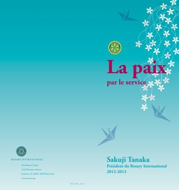 La paix par le service - Rotary International