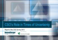 CSO's Role in Times of Uncertainty - Roland Berger