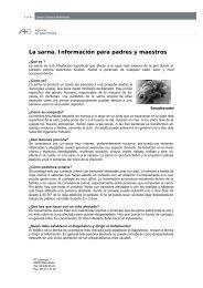La sarna. Información para padres y maestros