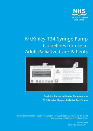 McKinley T34 Syringe Pump Guidelines for use in Adult Palliative ...