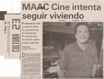 MAAC Cine intenta seguir viviendo - Escuela Superior Politécnica ...