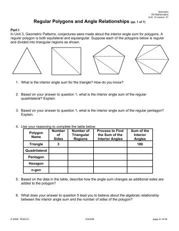 6 1 Ws Only Polygons And Angles