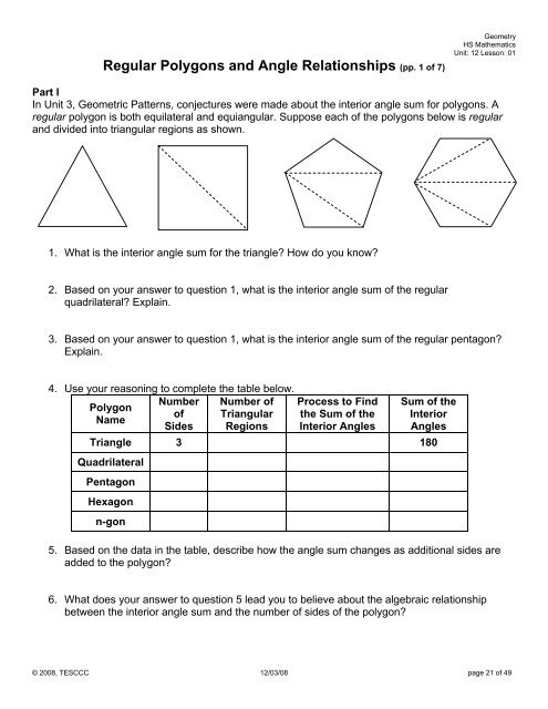 grade 6 angles and polygons unit test
