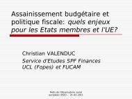 Assainissement budgétaire et politique fiscale - Observatoire social ...
