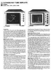 CA THODE-RA Y TUBE DISPLAYS - Helmut Singer Elektronik