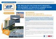Découvrez la nouvelle gamme de produits Dip Bâtiment ... - Dyrup