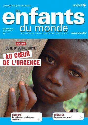 AU COEUR DE L'URGENCE - Unicef