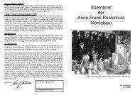 Elternbrief der Anne-Frank-Realschule Montabaur