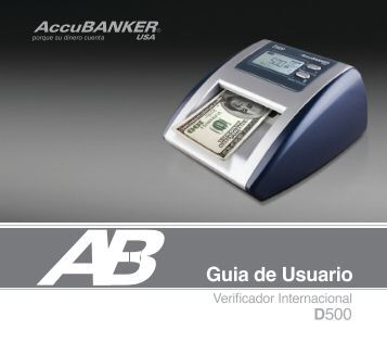 D500 Manual de Usuario - AccuBANKER