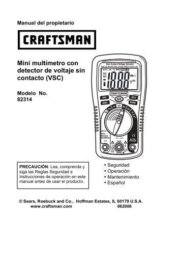Mini multímetro con detector de voltaje sin contacto (VSC) - Sears