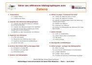 Zotero_avril2012.pdf - Bibliothèque interuniversitaire de médecine