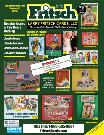 Click Here to View the Catalog Online - Larry Fritsch Cards, Inc.