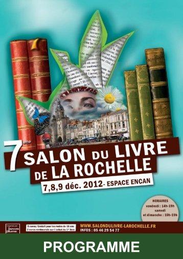 programme complet - Salon du Livre de la Rochelle