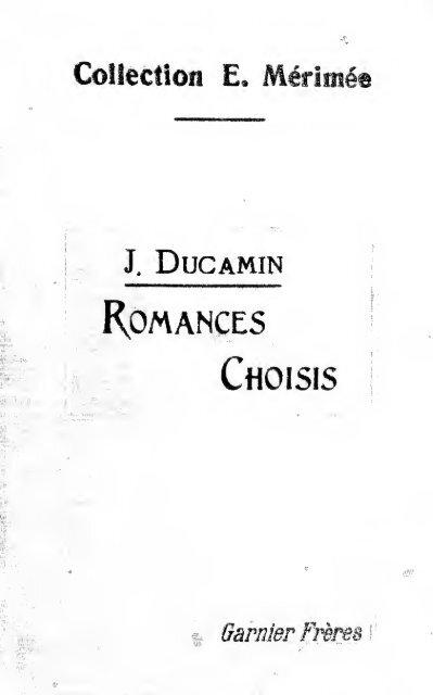 Romances Choisis Romances Históricos Fronterizos