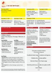 L'assiette rapide Pièce de bœuf grillée + frites + salade + Café ...