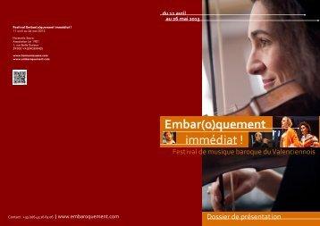(Dossier de pr\351sentation du Festival 2013 au ... - Harmonia Sacra