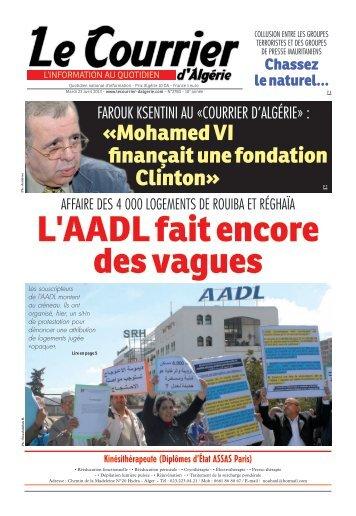 Numéro° 2780 du mardi 23 avril 2013 - Le Courrier d'Algérie