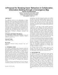 A Proposal for Studying Users - Collaborative Information Seeking