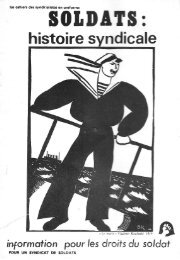 Soldats : histoire syndicale - Syllepse