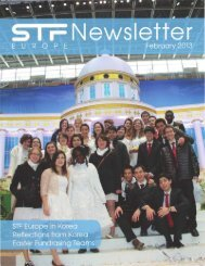 STF Newsletter for February 2013 - True Parents Organization