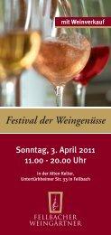 Festival der Weingenüsse