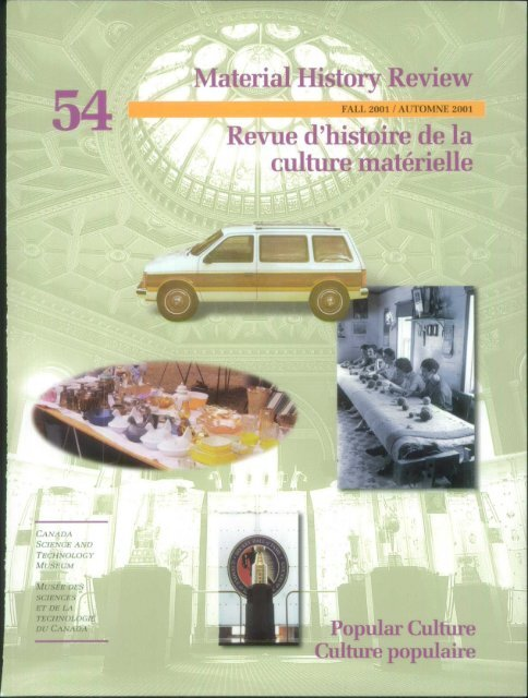 Culture Materielle Material History Review M Memorial