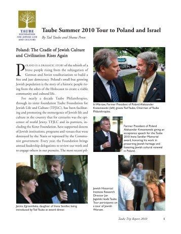 Taube Summer 2010 Tour to Poland and Israel - Taube Philanthropies