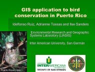 GIS application to bird conservation in Puerto Rico - CoHemis