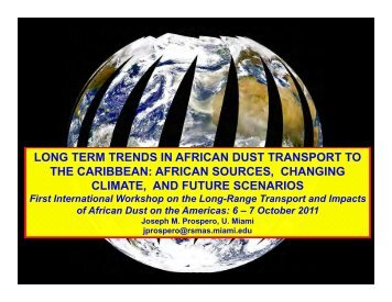 long term trends in african dust transport to the caribbean - CoHemis