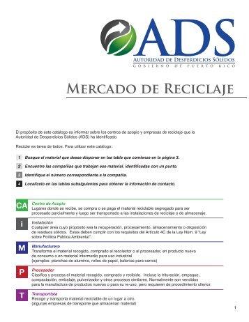 Mercado de Reciclaje - CoHemis