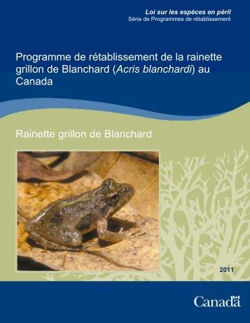 Rainette grillon de Blanchard (Acris blanchardi) - Publications du ...