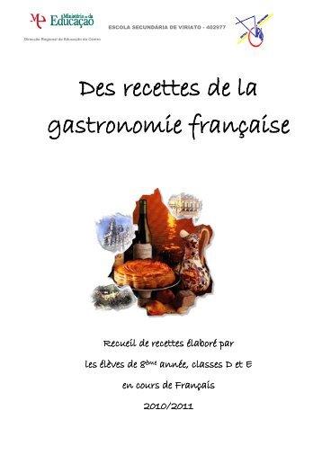 Des recettes de la gastronomie française - Escola Secundária de ...