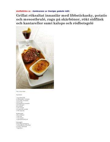 Recept Innanlår - ekoMatbilen.se
