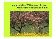 Herzlich Willkommen in der Anne-Frank-Realschule!