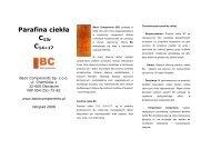 Parafina ciekła C14-C 17 - Basic Components Sp. z oo