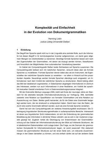 Komplexität und Einfachheit in der Evolution von ...