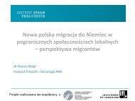 dr Hanna Bojar, Instytut Filozofii i Socjologii PAN, prezentacja: Nowa ...