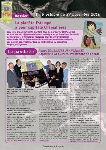 Chamalières Magazine octobre 2010, n°154 partie 2 - Ville de ...