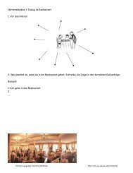 Page 1 Hörverständnis 1: Dialog im Restaurant 1. Vor dem Hören: 2 ...