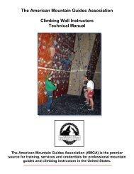 The American Mountain Guides Association Climbing Wall ...