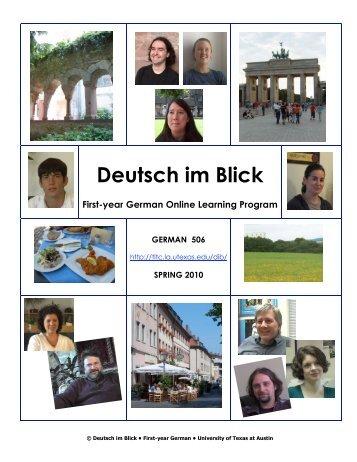 Deutsch im Blick First-year German Online Learning ... - COERLL