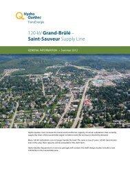 General Information Bulletin – Summer 2012 - Hydro-Québec