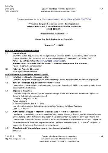 F-Thiverval-Grignon: Contrato de alquiler de delegación ... - Hispagua