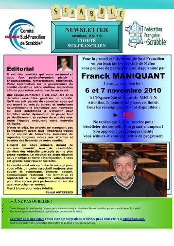Franck MANIQUANT - Comité Sud Francilien