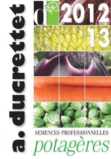 Catalogue potagères - Ducrettet