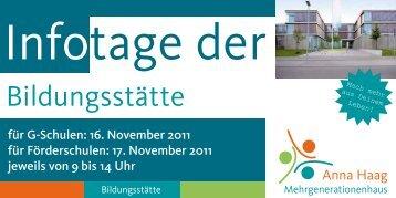 Bildungsstätte - Anna-Haag-Mehrgenerationenhaus
